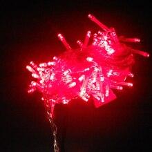 Праздничные Огни 10 м 100 Шнура СИД Рождество Энергии Строка Партия Рождество Сад Фея Света Гирлянда Освещения Тирас Лусес Casa