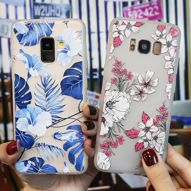 For Samsung S9 Case Silicone Phone Case For Samsung Galaxy S8 S9 Plus S6 S7 Edge A3 A5 2017 2016 A8 A7 2018 Case 3D Relief