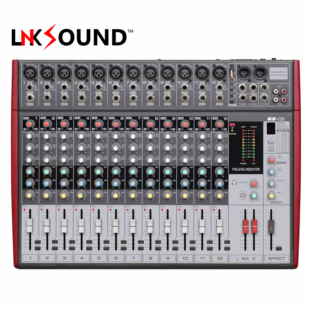 12 channel professional audio mixer bx 12 audio mixing console digital mixing console with - Professional mixing console ...