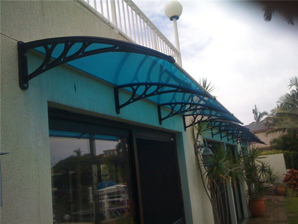 YP100360 100x360cm 39x140in DIY grey  engineer plastic  bracket polycarbonate awnings,entrance door canopy