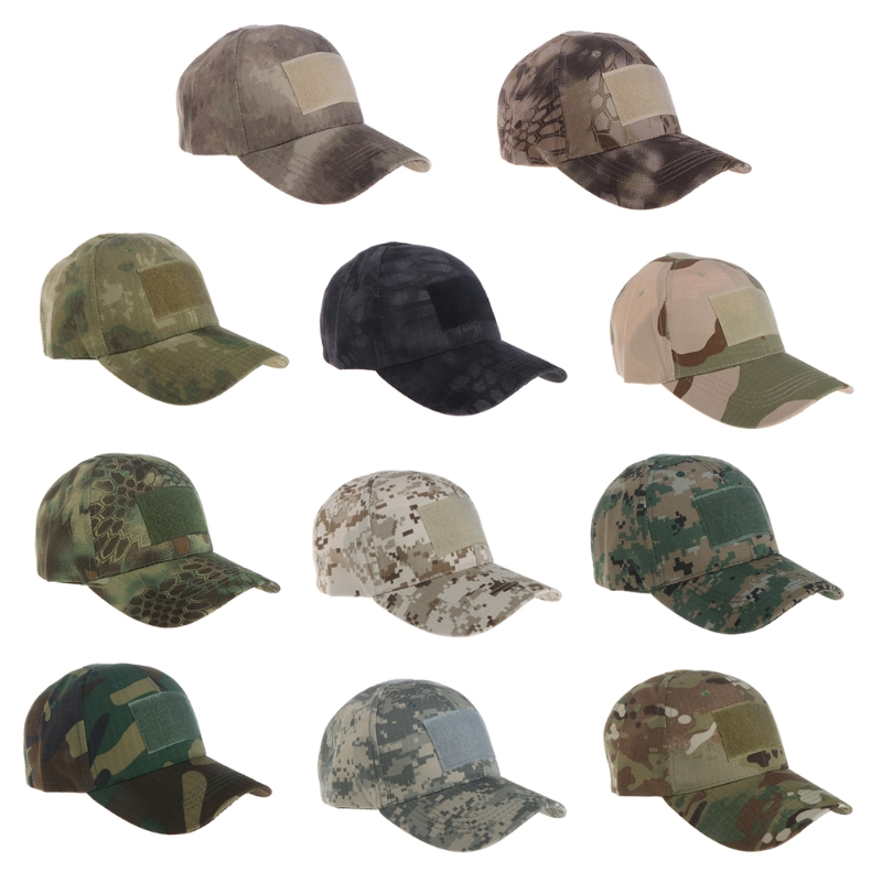 Military Tactical Camouflage Hat Outdoor Hunting Baseball Cap Men  Camo