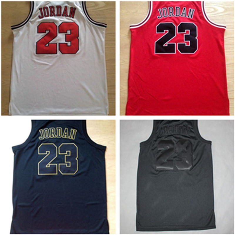 premium selection 4b225 75752 White 23 Michael Jordan Jersey,Black Red gold Rev 30 ...