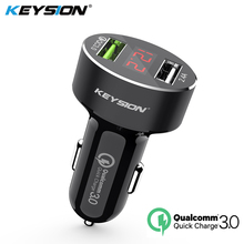 KEYSION Dual USB Quick Charger QC 3.0 Car Charger