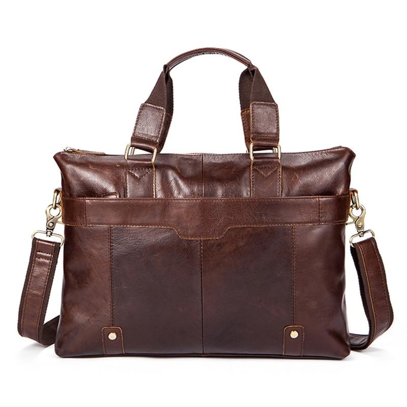 male messenger bag men genuine leather briefcase man Casual bag for 14
