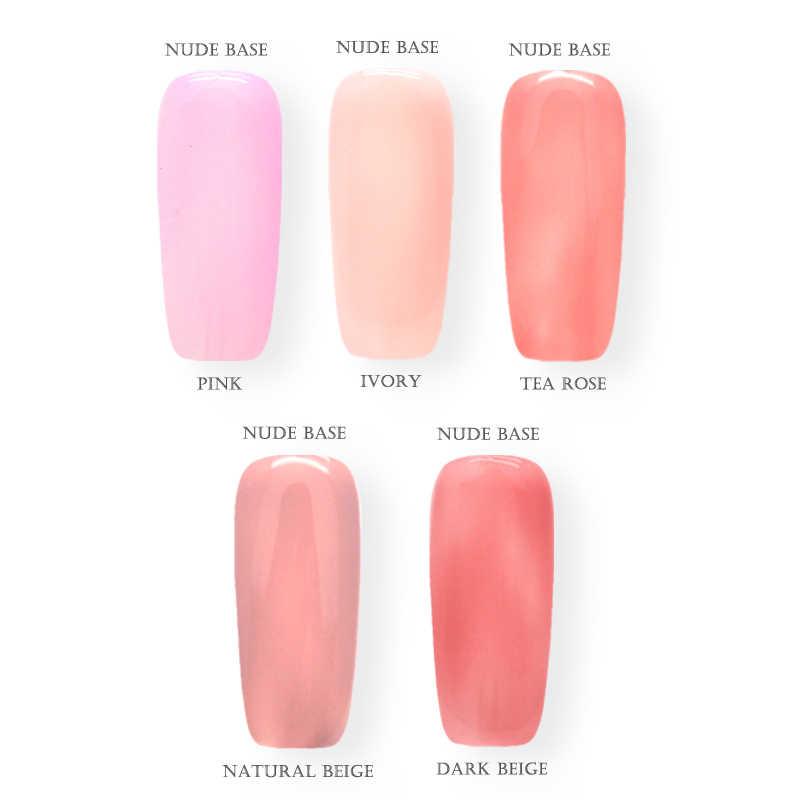 Vernis uv Semi-permanent Gel 12ml vernis à ongles naturel Nude 5 couleurs tremper Gellak vernis à ongles apprêt Gel vernis ensemble nouveau