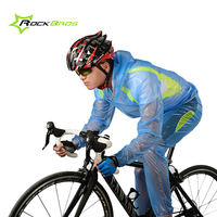 ROCKBROS Waterproof Cycling Clothing Men Women Sports Raincoat Bicycle Jacket Sets Waterproof Mtb Bike Cycling Jersey