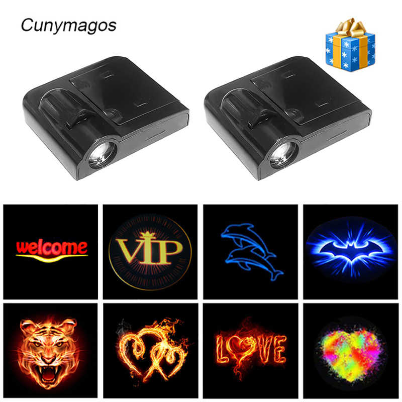 Puerta de coche inalámbrica personalizada, luz de bienvenida, sombra fantasma, luz láser, logotipo de bienvenida, proyector, luz LED para coche, estilo de coche