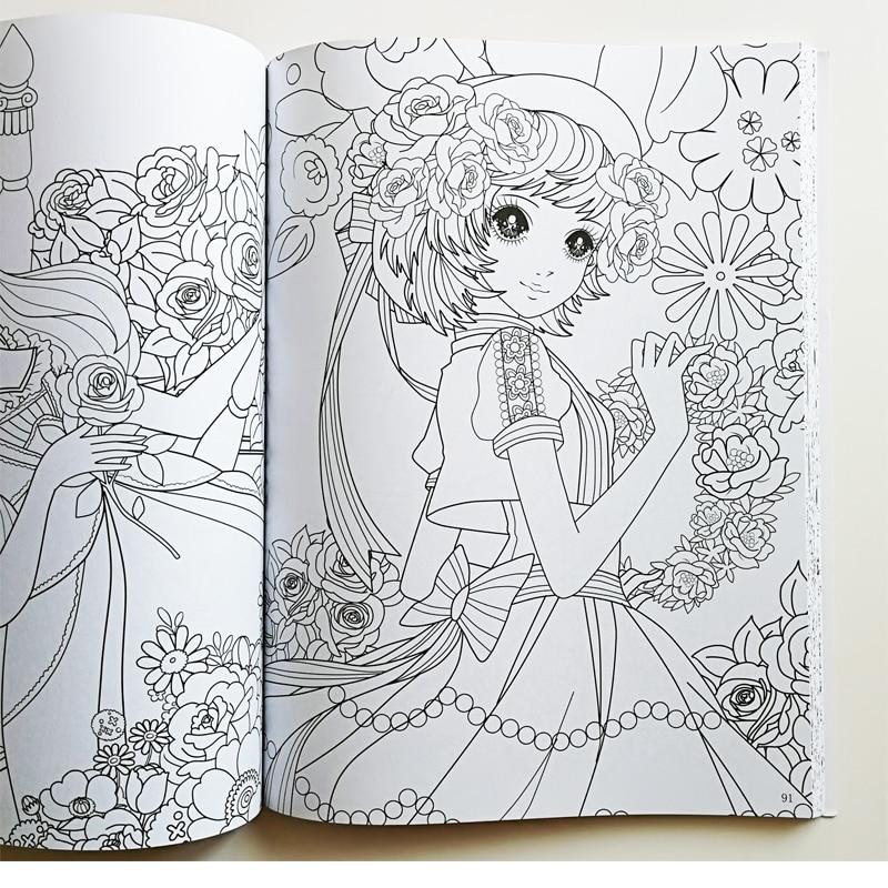 Pretty Prenses Boyama Kitabı Ben Yaklaşık 200 Prensesler Için