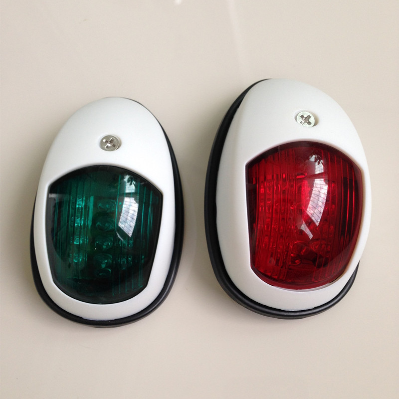 1Pair Red Green Port/Starboard Light 12V Marine Boat Yacht LED Navigation Light Sailing Signal Lamp-in Marine Hardware from Automobiles & Motorcycles