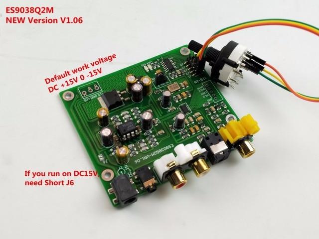 ES9038 ES9038Q2M pokładzie dekoder DAC wsparcie IIS DSD 384 KHz koncentryczny optyczne niedokonywanie deklaracji właściwości użytkowych, dla hifi wzmacniacz audio zasilanie prostownika