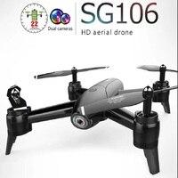 Радиоуправляемый вертолет SG106 RC Дрон Квадрокоптер с оптической 1080 P HD Двойная камера в режиме реального времени видео с антенной RC Квадрокоп