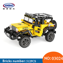 XingBao 03024 Car Series The Offroad Adventure Set Building Blocks Bricks Toys For Children Kids Educational Funny Kids Gifts 2018 new 1085pcs lepin technic series 20077 the rally car set 42077 building blocks bricks educational funny children toys gifts
