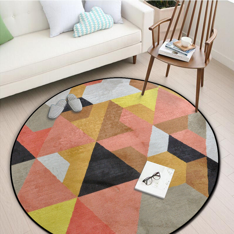 Admirable Us 12 31 30 Off Modern Simplicity Geometric Round Carpet Coffee Table Bedroom Living Room Rug Garden Kids Mat Computer Chair Swivel Chair Mats In Andrewgaddart Wooden Chair Designs For Living Room Andrewgaddartcom