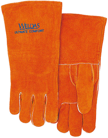 Work Glove TIG MIG Safety Glove Split Cow Leather Welding Glove leather safety glove deluxe tig mig leather welding glove comfoflex leather driver work glove