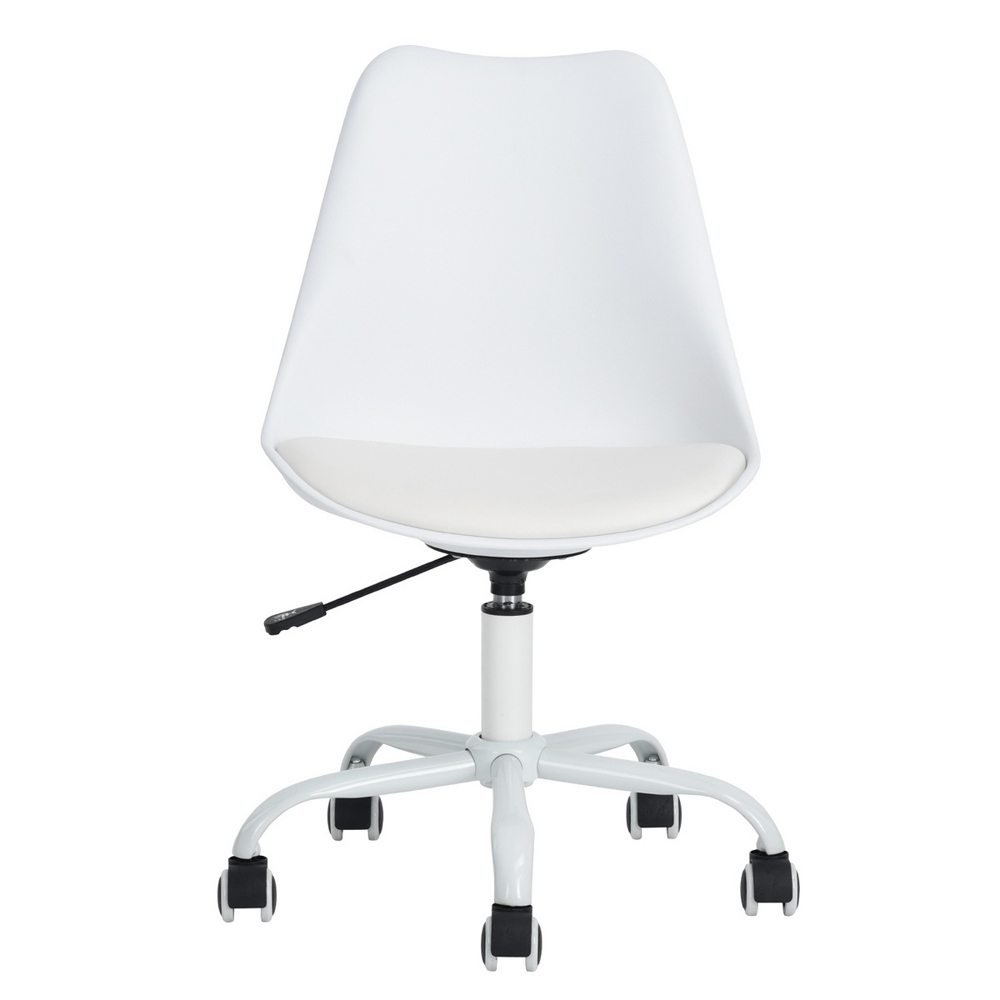 EGGREE Mid-Back Home Office Desk Chair Modern Adjustable Plastic Executive Conference Chair for Office Desk,White 240337 ergonomic chair quality pu wheel household office chair computer chair 3d thick cushion high breathable mesh
