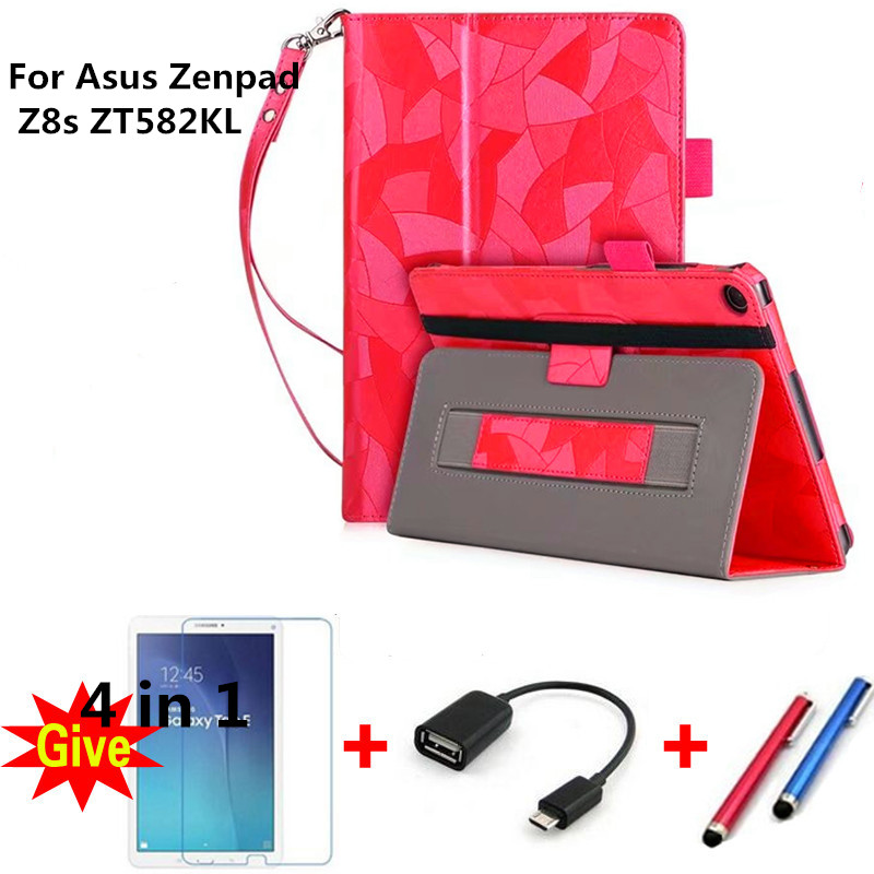 Stand Cover For 2017 New Asus Zenpad Z8S ZT582 ZT582KL 8 8.0 tablet Flip Case Cover for Asus Zenpad Z8S KST with hand wrist it baggage чехол для asus zenpad 8 z380 black