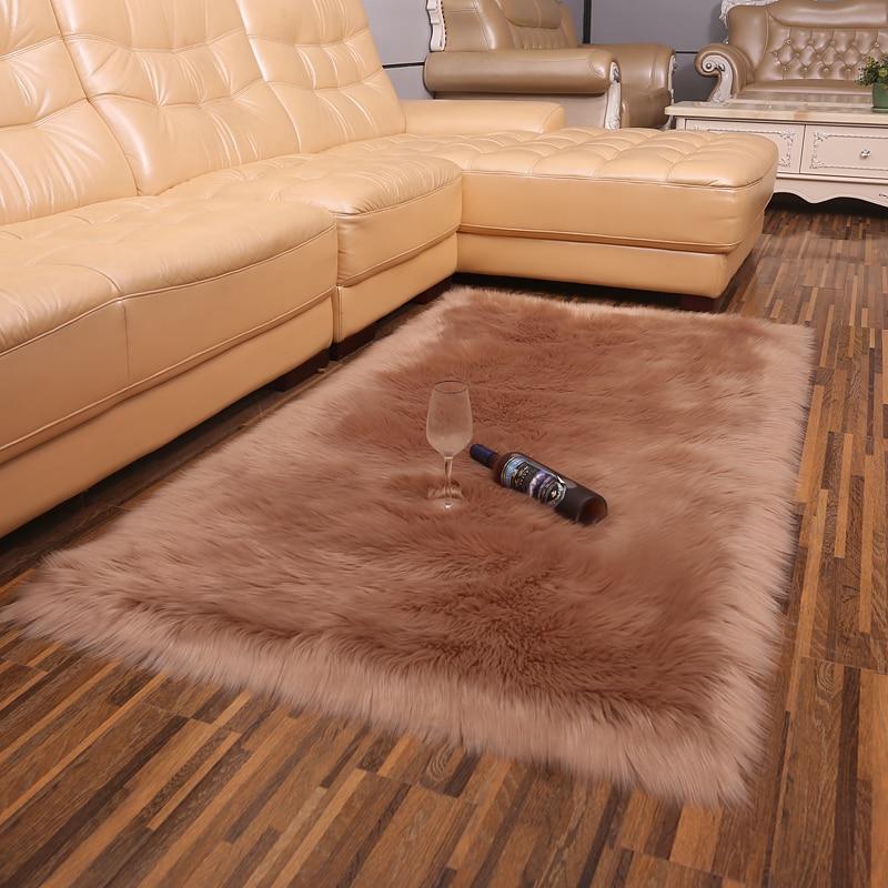 Simple plush fur carpet living room home bedroom bed full shop cute room imitation wool fluffy carpet bay window mat rug DT 45 in Carpet from Home Garden