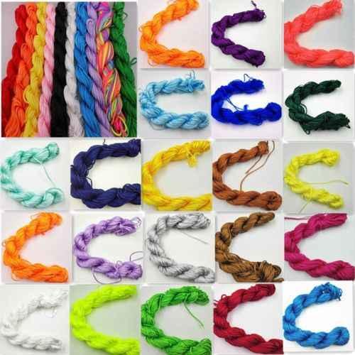 ใหม่ด้าย Braid String ใหม่ DIY 1mm * 26m เครื่องประดับทำ 29 สีจีน Knot สร้อยข้อมือไนลอนอุปกรณ์