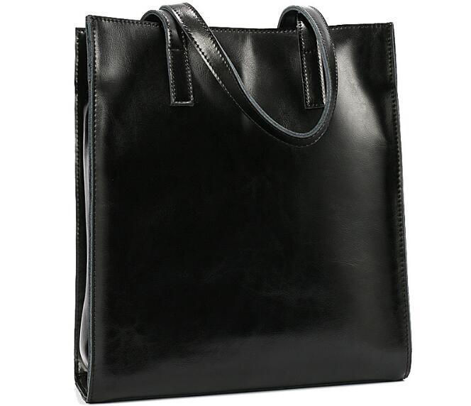 High Quality 100% Genuine Leather Bag Ladies OL Style Women Casual Handbag Tote Bag Ladies Shoulder Bags Briefcases