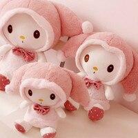 35CM Lovely Pink Rabbit Stuffed Plush Toys Doll Kid's Birthday Gift Cute Rabbit Home Decoration