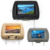 1 pc 7 inch TFT LED Screen Video Player Universal Car Headrest Monitor Beige / Gray / Black AV USB SD MP5 FM Built in Speaker