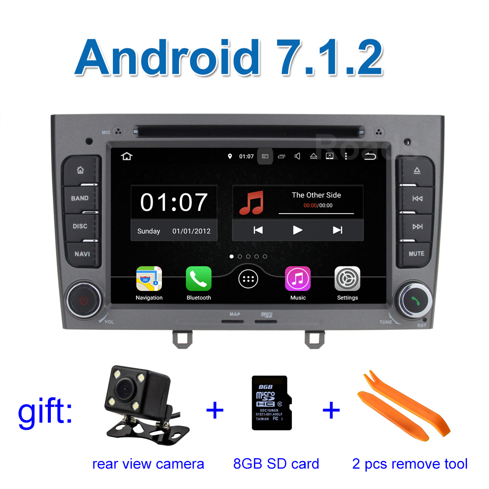 2 GB RAM Android 7 1 Car DVD Player for Peugeot 408 308 308SW 2008 2009