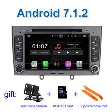2 GB de RAM Android 7.1 Coches Reproductor de DVD para Peugeot 408 308 308SW 2008 2009 2010 2011 2012 2013 con Radio GPS WiFi BT