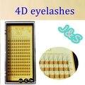 J&S 1pcs/lot Wholesale Korea 0.07 Silk Soft Exclusive Individual Imitation Mink Lashes 4D pre made fans LASH Eyelash Extension
