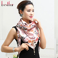 New Arrival 2016 Women Polyester Silk Scarfs Spring Summer Print Fashion Womens Triangle Scarf Femm Free Shipping Cachecol Hot