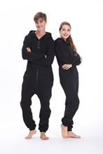 Nordic Way Fashion One Piece Jumpsuit Hoodies Fleece Unisex Women Men Romper Adult Playsuit(China)