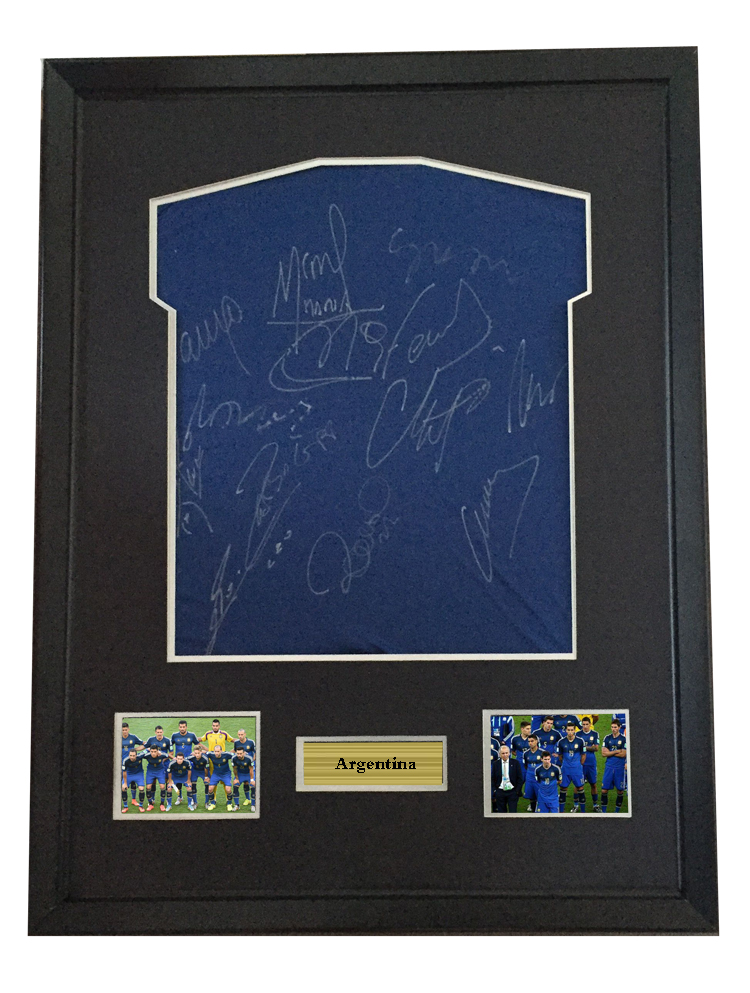 Messi Sergio Aguero signed autographed soccer shirt jersey come with Sa coa framed  Argentina 2014-in Frame from Home   Garden on Aliexpress.com  bbf1c6b8f