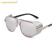 702a2345489a7 2018 nouvelle mode Steampunk lunettes De soleil lunettes de soleil fer  hommes femmes marque Designer rétro