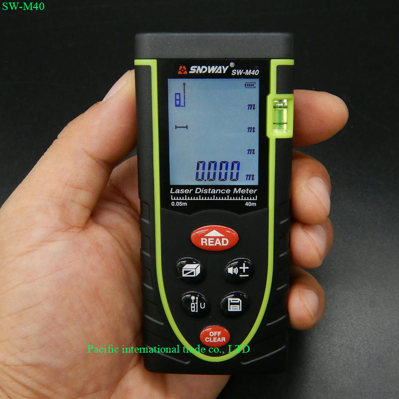 40m laser distance meter laser rangefinder SW-M40 accuracy 2mm Maximum measuring distance 40m measure Area/volume tool  цены