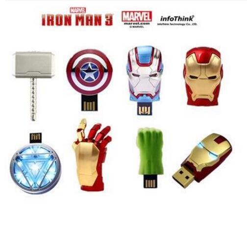 Hot Super Avengers USB 2.0 Flash Drive Pen Drive Iron Man America Captain Hammer Hulk USB Flash Memory Stick 8GB 16GB 32GB 64GB
