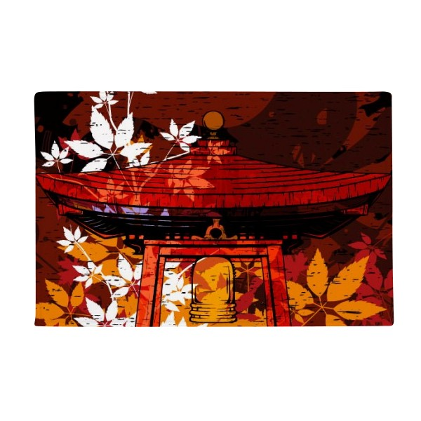 Japan Japanese Style Leaves Pavilion Anti-slip Floor Mat Carpet Bathroom Living Room Kitchen Door 16x30Gift