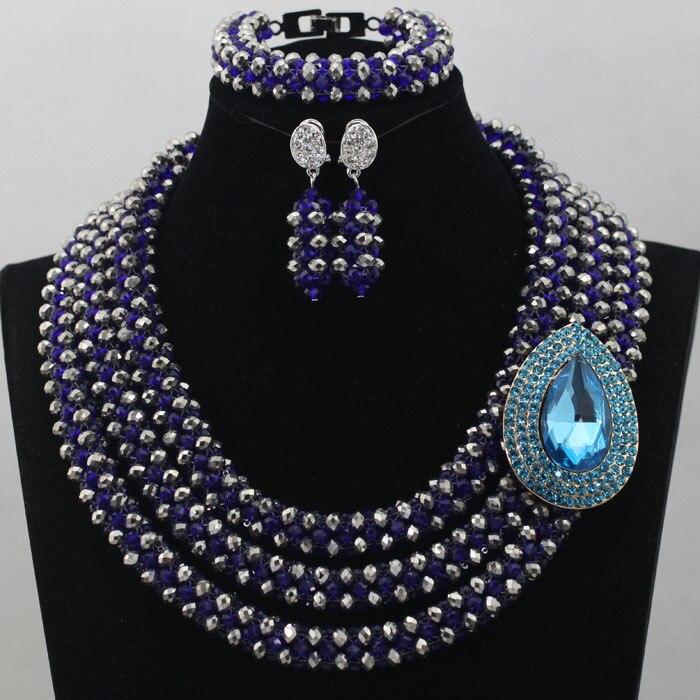 Shining Sliver Gray Nigerian Jewelry Set Charming Fashion Jewelry Set Lovely Bridal Jewelry Sets Free Shipping hx267 товары для женщин lovely jewelry