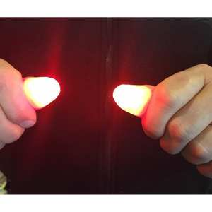 Toys Trick-Props Thumbs Led-Light-Up Flashing-Fingers Funny Luminous-Gifts Kids Magic