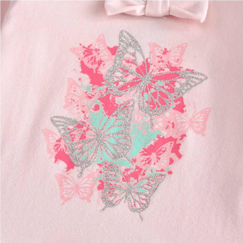 VIKITA малышей Vestidos с длинными рукавами для девочек, платье с бабочкой для детей, платье принцессы с юбкой-пачкой платья детское платье для девочек L192pink