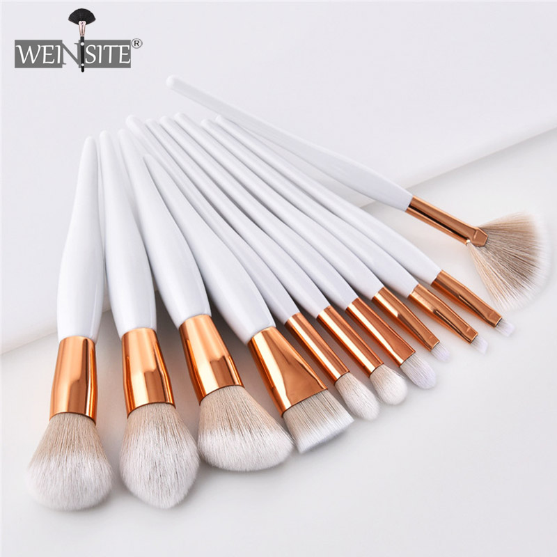 Women's Fashion Makeup Brush Soft Synthetic Head Foundation Eye Shadow Facial Makeup Brush Set Beauty Cosmetics Pincel Maquiagem(China)