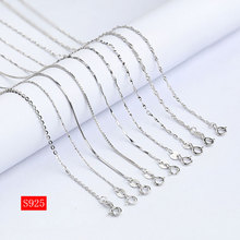 16 18925 Sterling Silver Jewelry Necklace Chains Singapore Curb Snake ROLO Jewellery Findings Cottection Accessories singapore