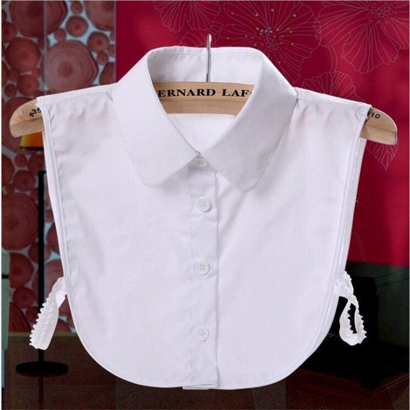 Falsche Kragen Sommer Mode Chiffon Frauen Tops Shirt Kerb Damen Spitze Abnehmbare Blusen Kleidung Zubehör