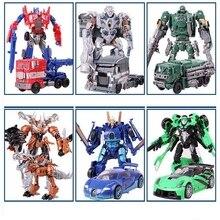 Новый Сплав преобразование 4 Игрушки Робот Автомобилей Аниме Фигурку Brinquedos Детей Игрушки Juguetes Подарков