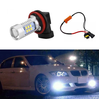 1x Extremely Bright H8 H11 LED Fog Light Bulb Lamp No Error For BMW E63 E64 E90 E91 E92 E93 328i 328xi X5 E53 E70 E46 325i image