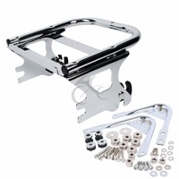 New Two up Tour Pak Pack Luggage Rack &Docking Hardware For Harley Touring 97 08