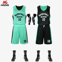 Reversible Jersey & Shorts 2PCS Basketball Train Set Boy Suit Customized LOGO Uniform Sportwear Summer Basketball Double Men Set