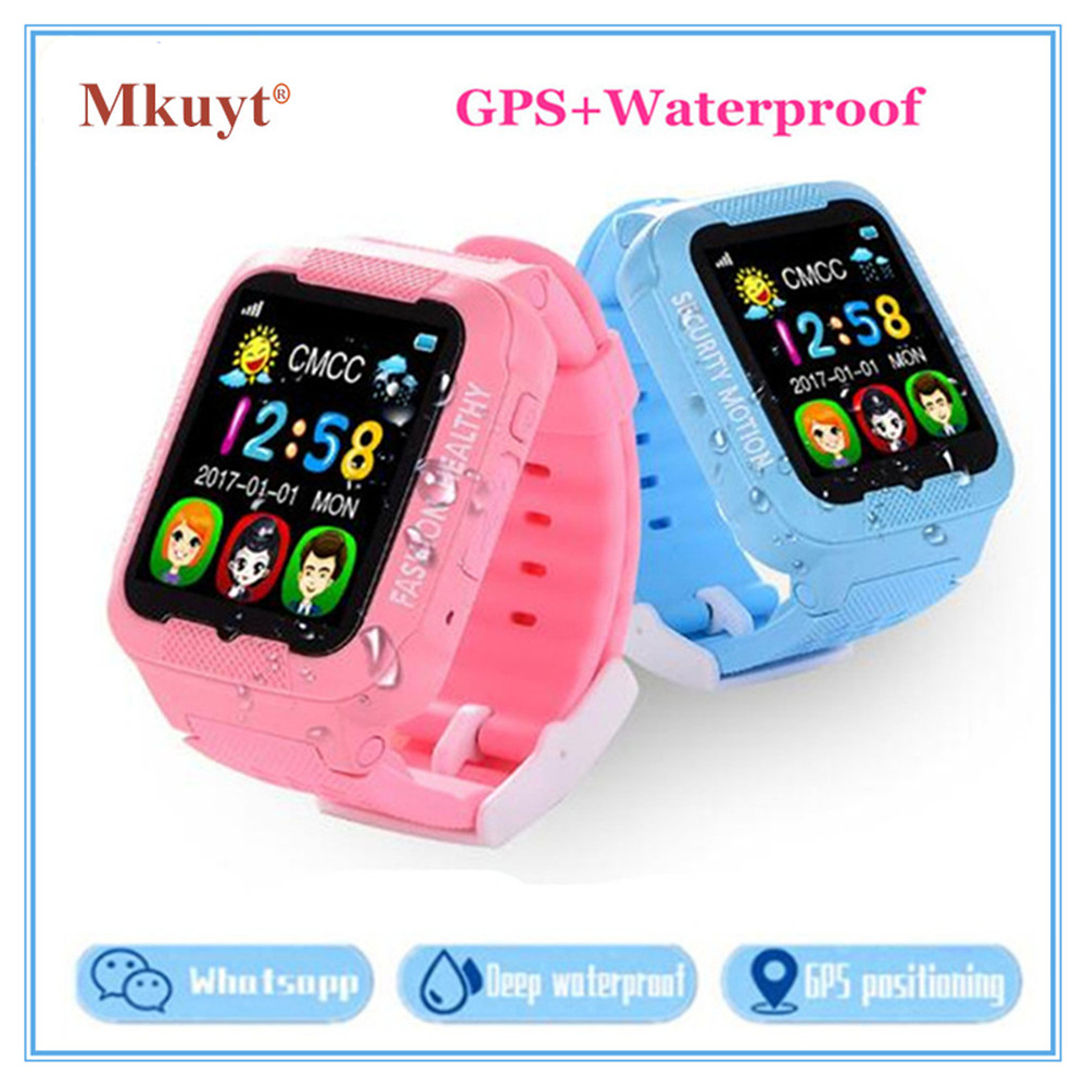 MKUYT K3 Kids GPS Phone Positioning Smart Watch with Whatsapp Facebook Waterproof SOS Location Devicer Wristwatch PK Q90 Q80 Q50