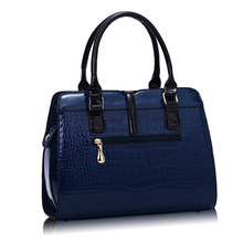RanHuang Women Alligator Handbag High Quality Luxury Patent Leather Shoulder Bag Fashion Message Bags Blue Bolsa Feminina A166