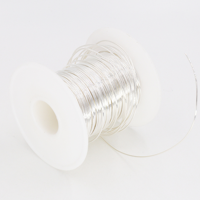 Per Meter 99.999% 5N Solid Core Pure Silver Audio Wire DIY-in ... on solid aluminum wire, solid copper wire, solid vs stranded electrical wire, no 12 gauge solid wire,
