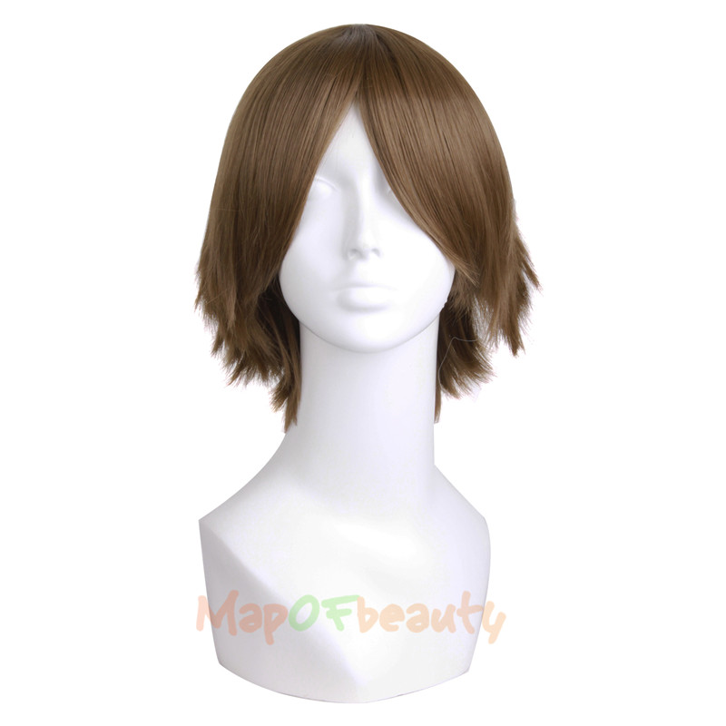 Synthetic None-lacewigs Mapofbeauty 12 30cm Short Straight Men Cosplay Wigs Brown Blonde Yellow Purple 6 Colors High Temperature Fiber Synthetic Hair Terrific Value Hair Extensions & Wigs