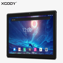 On sale XGODY T1004 4G LTE Phone Call Tablet PC 10.1 Inch 2.5D 1920*1200 Tablets 10 Android 7.0 Nougat MT6737 Octa Core 2+32 OTG 4500mAh